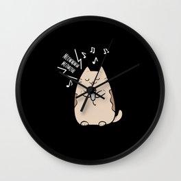 Cute Karaoke Cat Anime Music Lover Manga Cats Gift Wall Clock