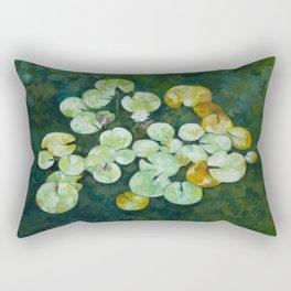 Tranquil lily pond Rectangular Pillow