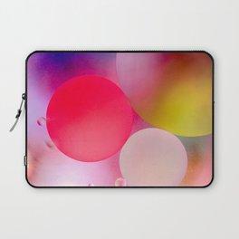 Multicolored Pastel Oil Bubble Water Drops Laptop Sleeve