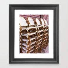 Paris Café Chairs Framed Art Print