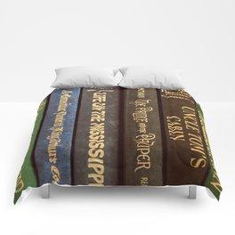 Old Books - Square Twain Comforters
