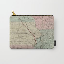 Vintage Midwestern United States Railroad Map Carry-All Pouch