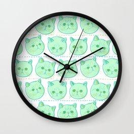 Exotic shorthair cat pattern Wall Clock