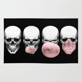 Skulls chewing bubblegum Rug
