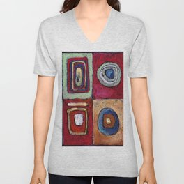 Buffet - abstract multi-colored pastel drawing. Good painting for a modern interior Unisex V-Neck