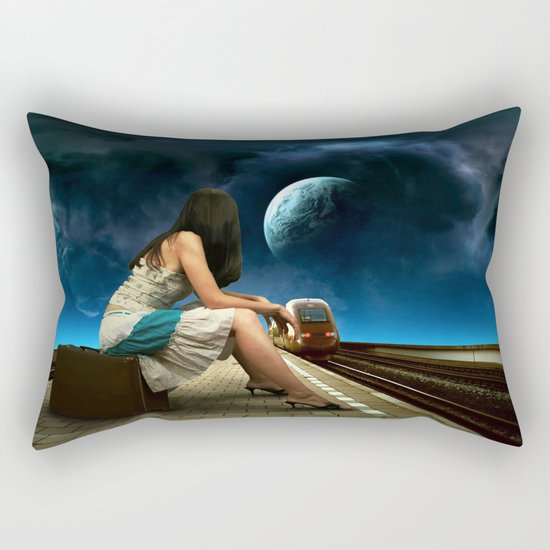 Midnight Train Rectangular Pillow