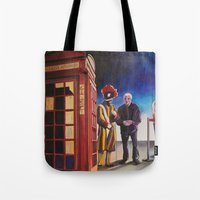 death cab for cutie Tote Bags featuring Death cab authorized by GaeTano & Valentina