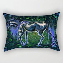 Blue Love Horse Rectangular Pillow