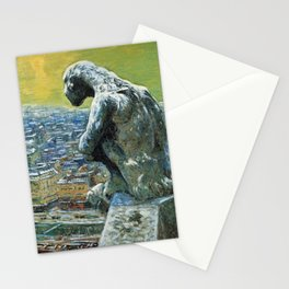 "Nicolas Tarkhoff (1902) ""Chimera of Notre Dame"" Stationery Cards"