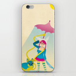 Kaiser the Dog and Melissa the Human iPhone Skin