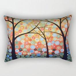 Abstract Art Original Landscape Painting ... Nights of Splendor Rectangular Pillow