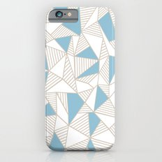 Ab Nude Lines with Blue Blocks iPhone 6s Slim Case