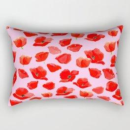 Poppy Field Pink Rectangular Pillow