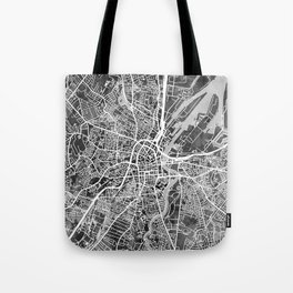 Belfast Northern Ireland City Map Tote Bag