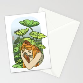 Lotus Capped Stationery Cards