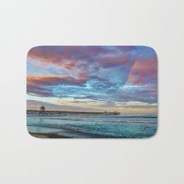 The Rainbow at the End of the Pier Bath Mat