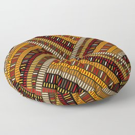 Doodle african pattern with geometric motifs Floor Pillow