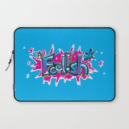 FN Foolish Graffiti Art blue Laptop Sleeve