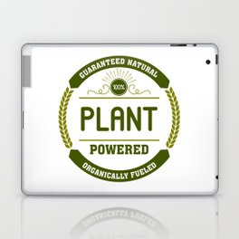 100% Plant Powered & Organically Fueled Green Badge Laptop & iPad Skin