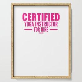 Yoga teacher certification Serving Tray