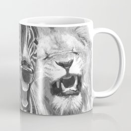 Black and White Jungle Animal Friends Coffee Mug