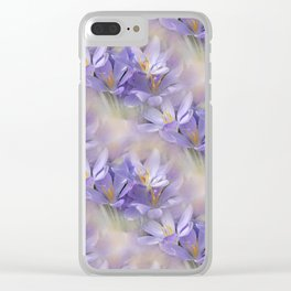 flowers -3- seamless pattern Clear iPhone Case