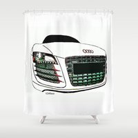 audi Shower Curtains featuring Zaklassic - Z-06 by Zak Ashton