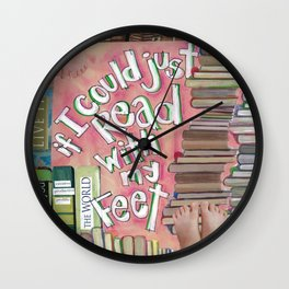 Feet Reading Wall Clock
