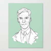 benedict cumberbatch Canvas Prints featuring Benedict Cumberbatch by Cécile Pellerin