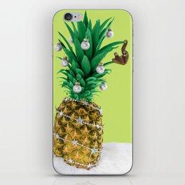 Christmas pineapple iPhone Skin