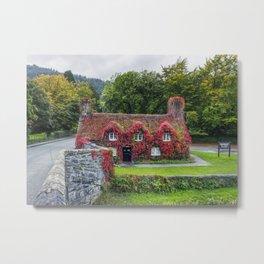 Autumn Tea Room Llanrwst Metal Print
