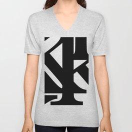Hidden Letters. Baskerville K Unisex V-Neck