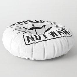 Make Law Not War Lawyer Judge Retro Floor Pillow