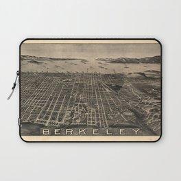 Vintage Bird's Eye Map Illustration - Berkeley, California (1909) Laptop Sleeve