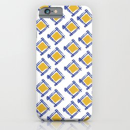 Tribal pattern, abstract, contemporary indian art iPhone Case