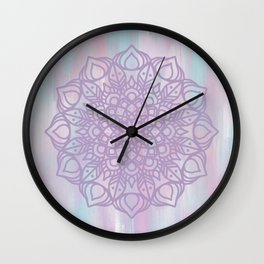 Abstract Pastel Mandala Wall Clock