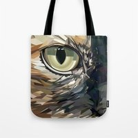 stevie nicks Tote Bags featuring Stevie Cat by Kelli Holtman