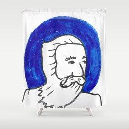 The Blue Man Shower Curtain