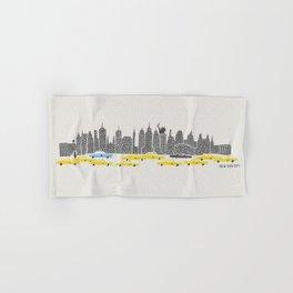 New York City Panoramic Hand & Bath Towel