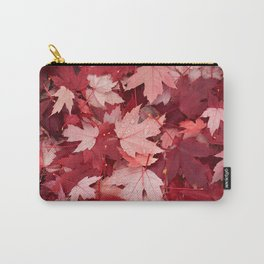 Autumn Warm Orange Leaves Carry-All Pouch