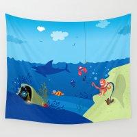 ukraine Wall Tapestries featuring Underwater World by Lana