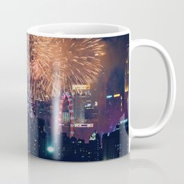 Fireworks in the City (Color) Coffee Mug