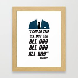 All Day | New Girl Framed Art Print