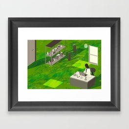 """""""My Family, My Science"""" by Angie Wang for Nautilus Framed Art Print"""