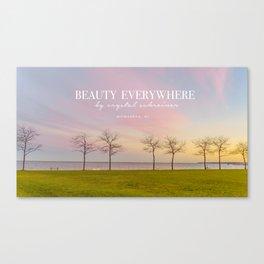 Pink Milwaukee Sky  Canvas Print