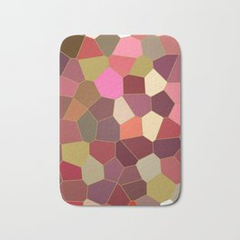 Red and Gold Festive Dazzle Stained Glass Abstract Bath Mat