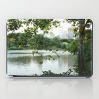central park iPad Cases featuring Central park by ChaunceyInk