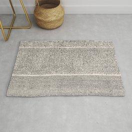The Rosetta Stone // Antique White Rug