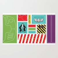 toy story Area & Throw Rugs featuring TOY STORY : BUZZ LIGHTYEAR STICKERS KIT by DrakenStuff+