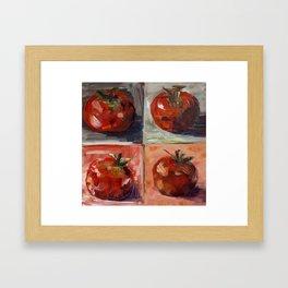 Tomato Collage Framed Art Print